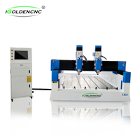Two head stone cnc router machine