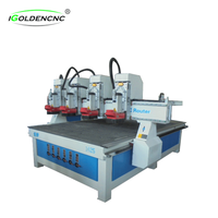Independent 4 head Cnc Router Wood Carving Machine